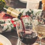 Christmas Table and red wine
